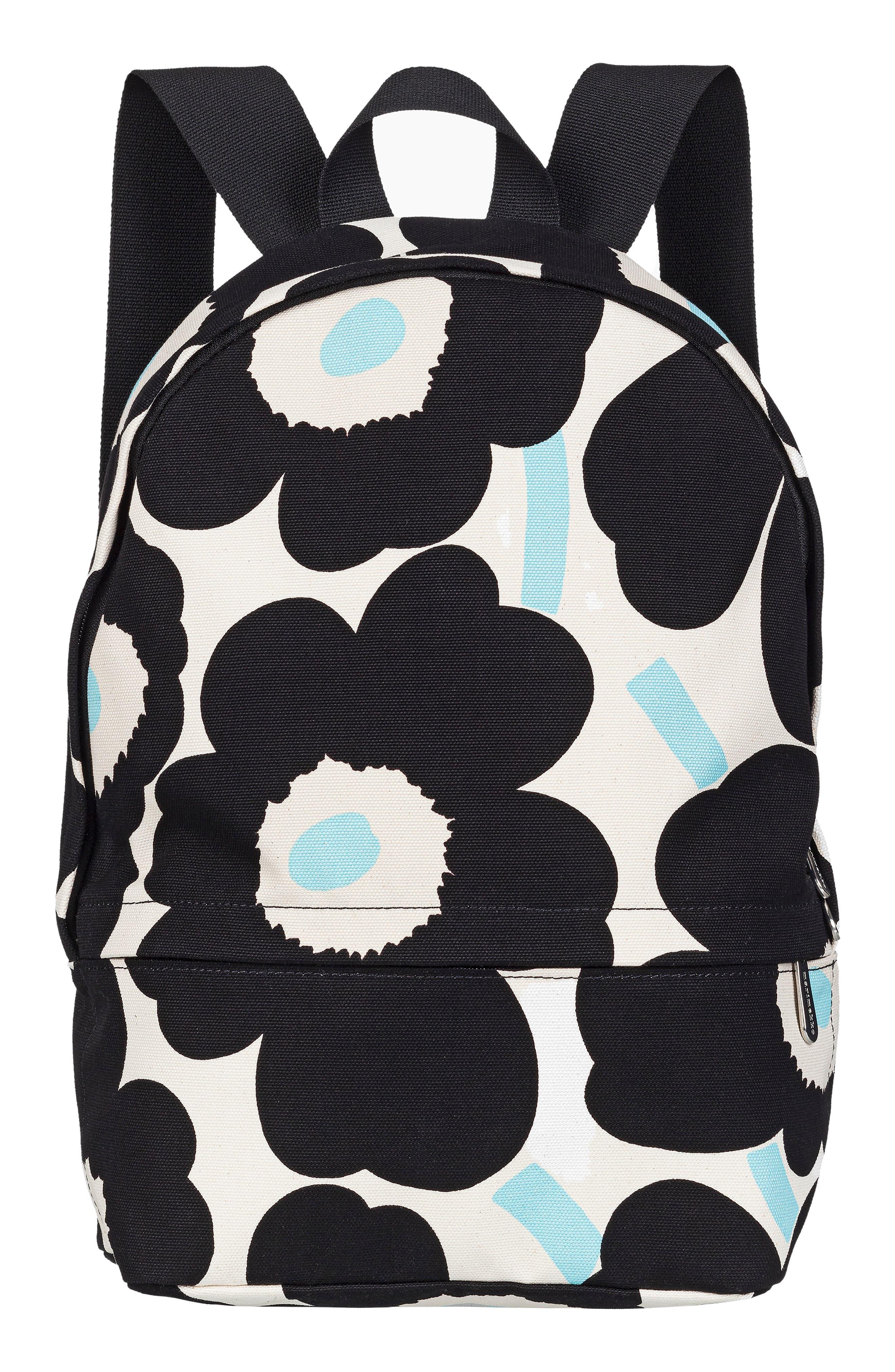 Enni Pieni Unikko Floral Print Canvas Backpack