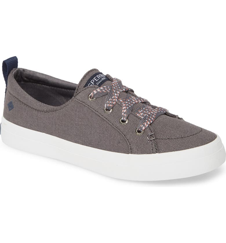 SPERRY Crest Vibe Sneaker, Main, color, DARK GREY CANVAS