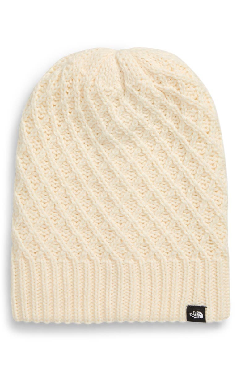 THE NORTH FACE 'Shinsky' Reversible Beanie, Main, color, VINT WHITE CRISS CROSS STITCH
