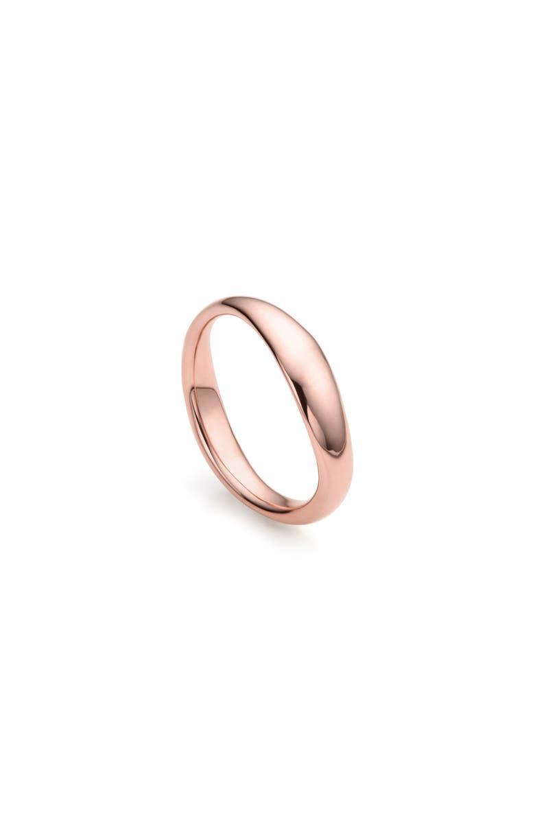 MONICA VINADER Nura Reef Stacking Ring, Main, color, ROSE GOLD