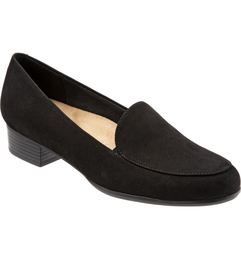 TROTTERS Monarch Loafer, Main, color, BLACK/ BLACK LEATHER