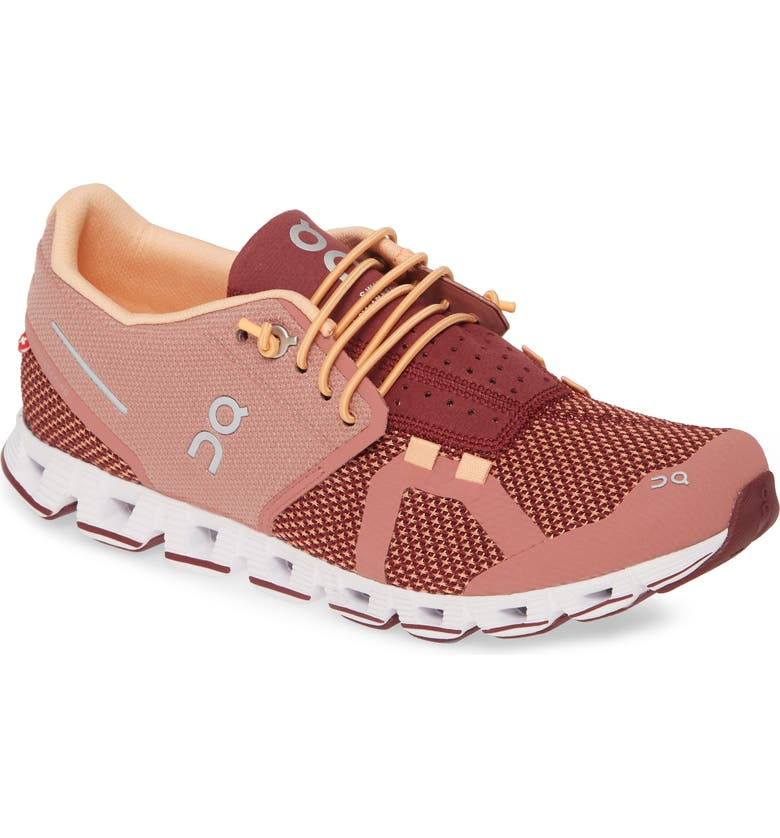 ON Cloud Running Shoe, Main, color, DUSTROSE/ MULBERRY