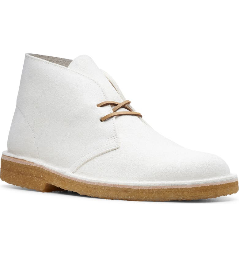 CLARKS<SUP>®</SUP> Desert Chukka Boot, Main, color, WHITE SUEDE