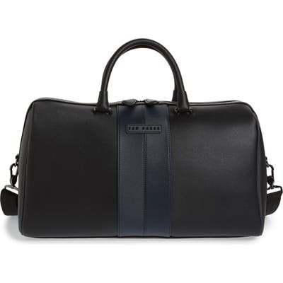 Ted Baker London Faux Leather Duffle Bag - Black
