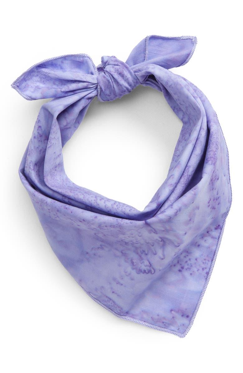 LOVETHYBEAST Sunrise Tie Dye Cotton Bandana, Main, color, OMBRE DAY SKY