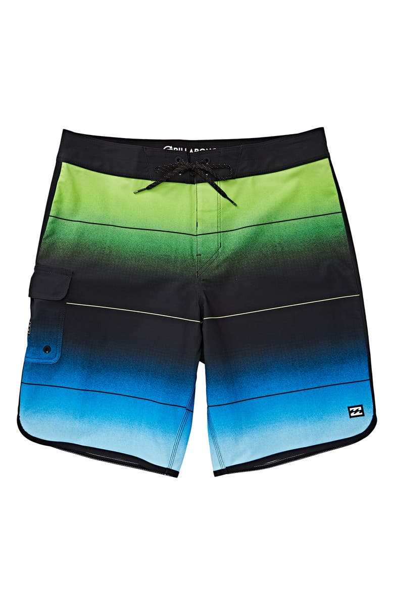 BILLABONG 73 Stripe Pro Board Shorts, Main, color, NEO GREEN