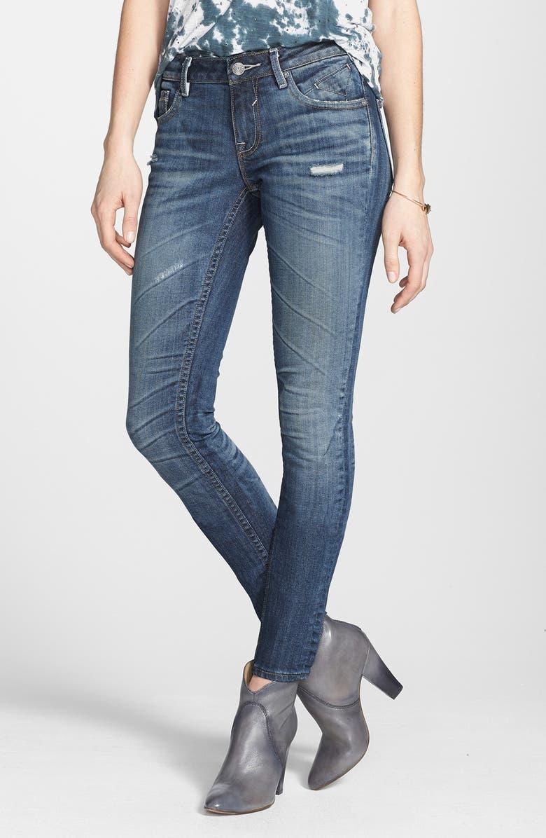 VIGOSS Destroyed Skinny Jeans, Main, color, 400