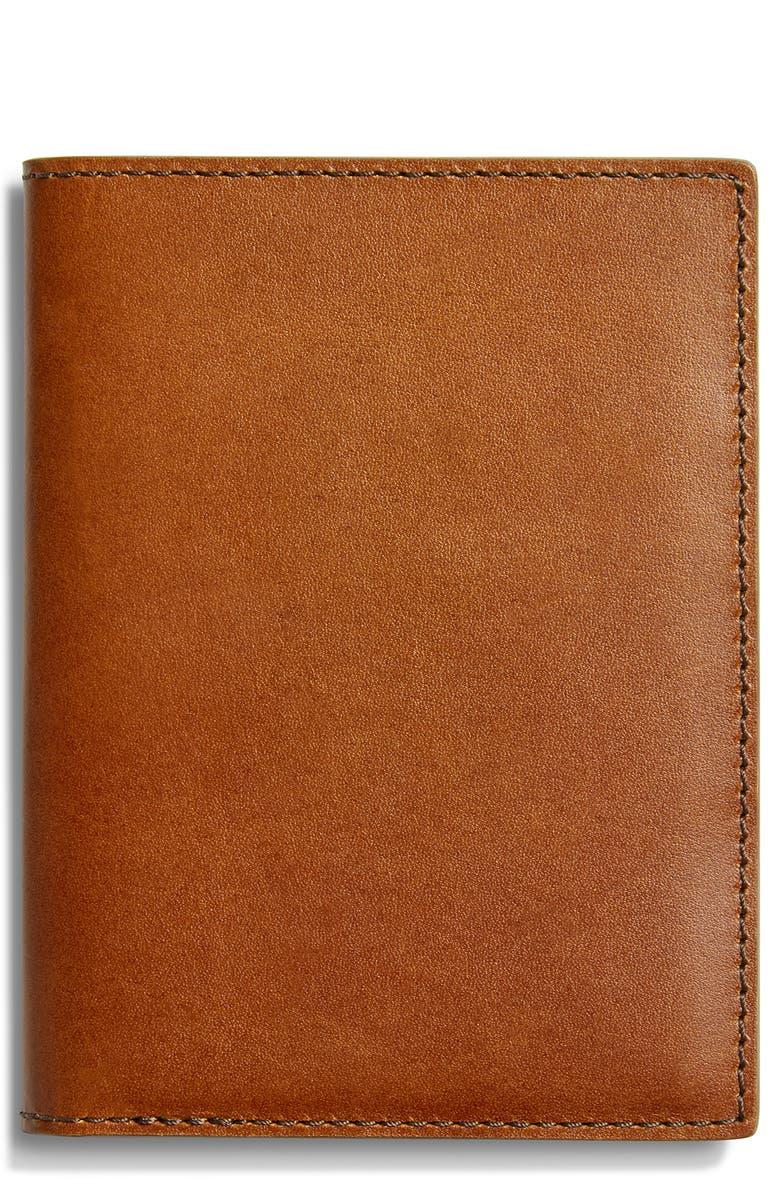 SHINOLA Harness Leather Passport Wallet, Main, color, 200