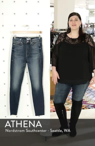 Good Legs High Waist Raw Hem Skinny Jeans, sales video thumbnail