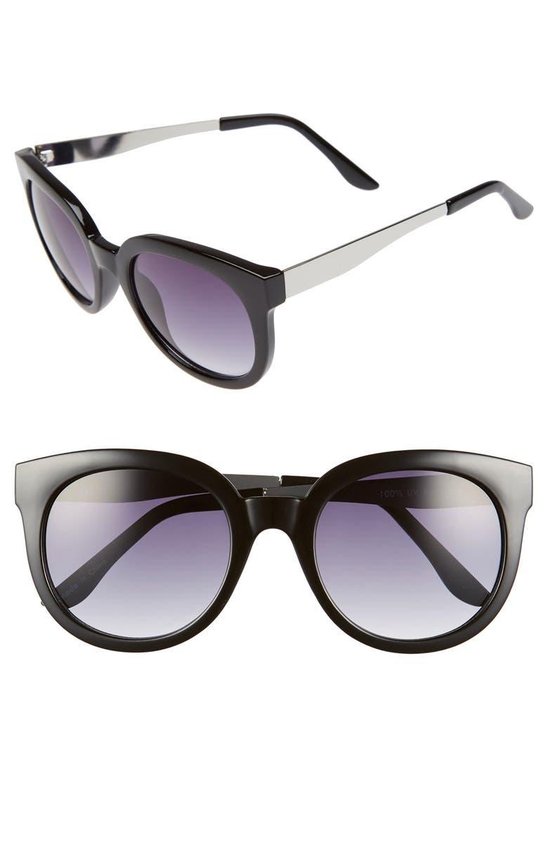BP. 'Ipso Facto' 50mm Sunglasses, Main, color, 001