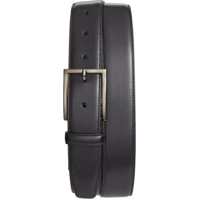 Nordstrom Shop Marco Burnished Leather Belt, Black