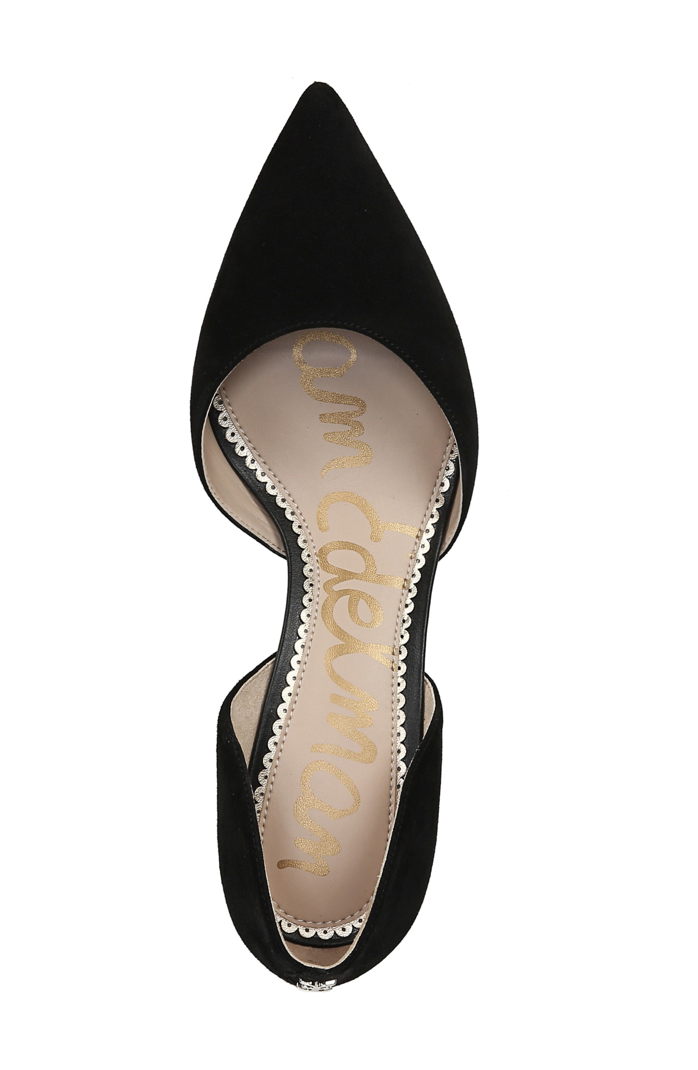 ,                             Jaina Pump,                             Alternate thumbnail 4, color,                             BLACK SUEDE LEATHER