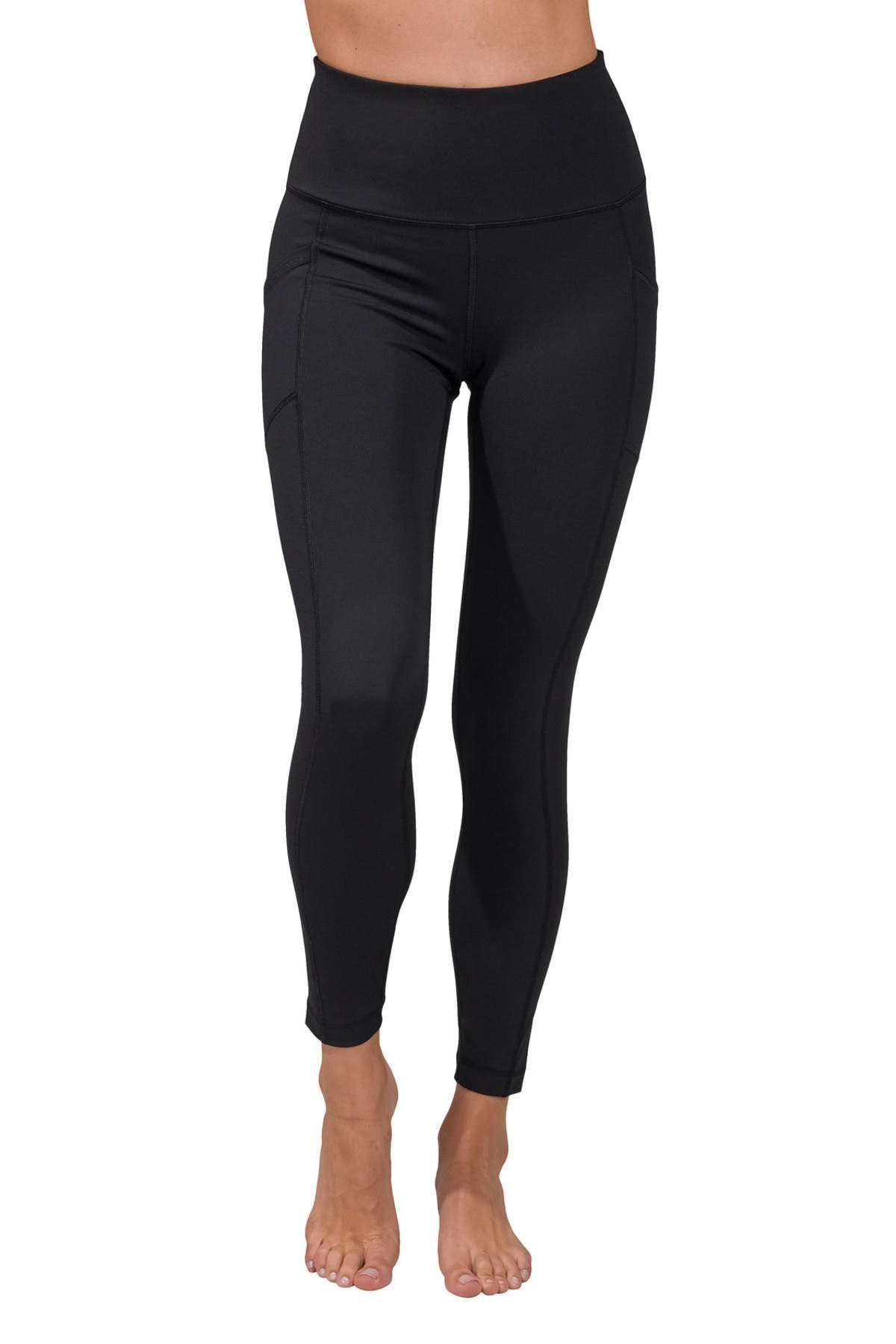 Image of 90 Degree By Reflex Wonderflex High Waist Pocket Capri Leggings