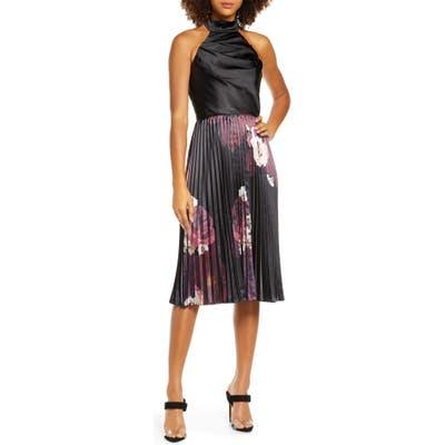 Chi Chi London Ardela Halter Cocktail Dress, Black