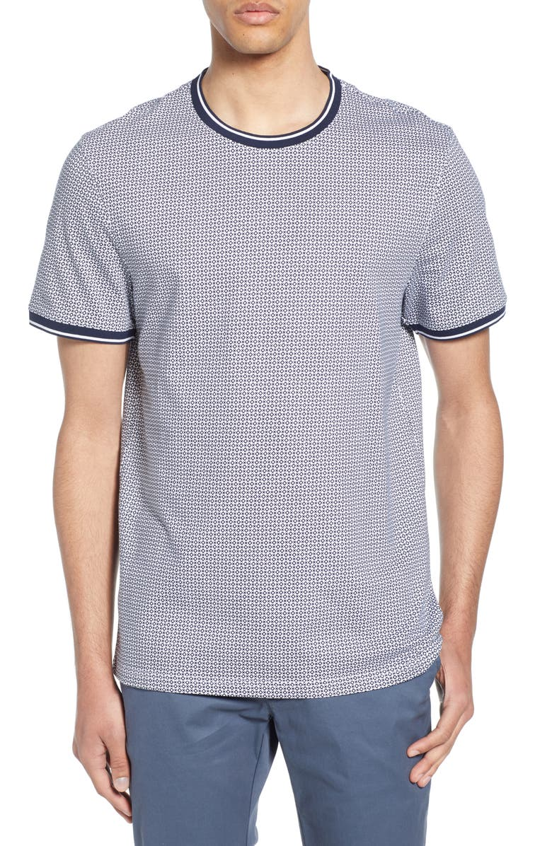 TED BAKER LONDON Geckoe Slim Fit Print T-Shirt, Main, color, NAVY