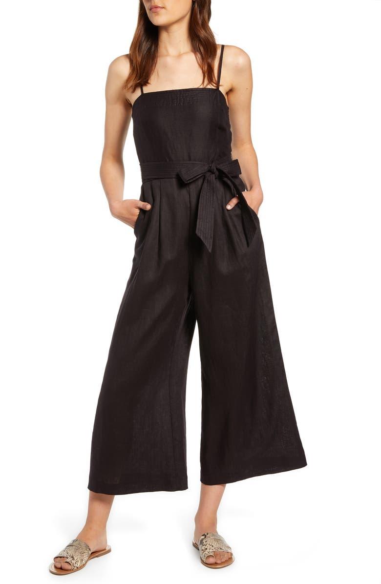 spaghetti-strap-linen-jumpsuit by jcrew