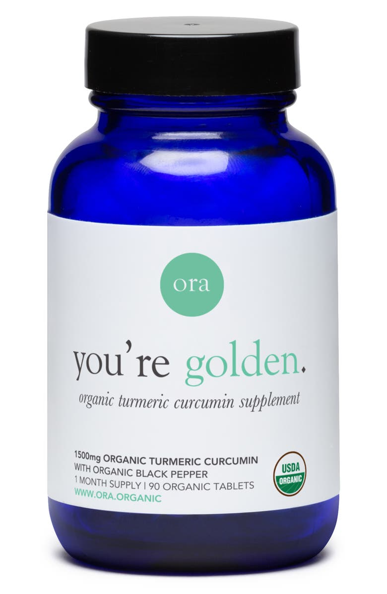 ORA ORGANIC You're Golden Organic Turmeric Curcumin Dietary Supplement, Main, color, NO COLOR