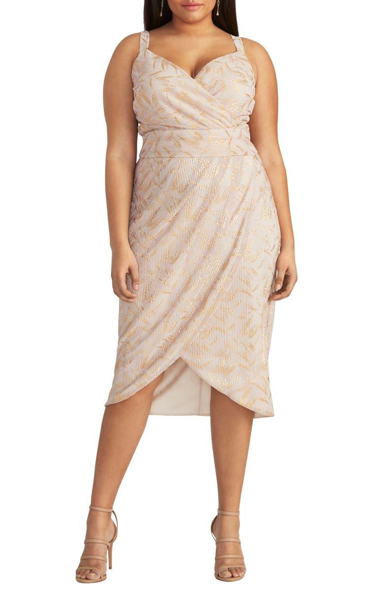 RACHEL RACHEL ROY Faux Wrap Knit Dress, Main, color, BLUSH COMBO