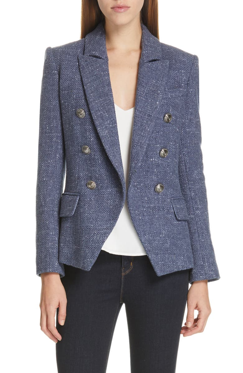 L'AGENCE Kenzie Double Breasted Blazer, Main, color, 450