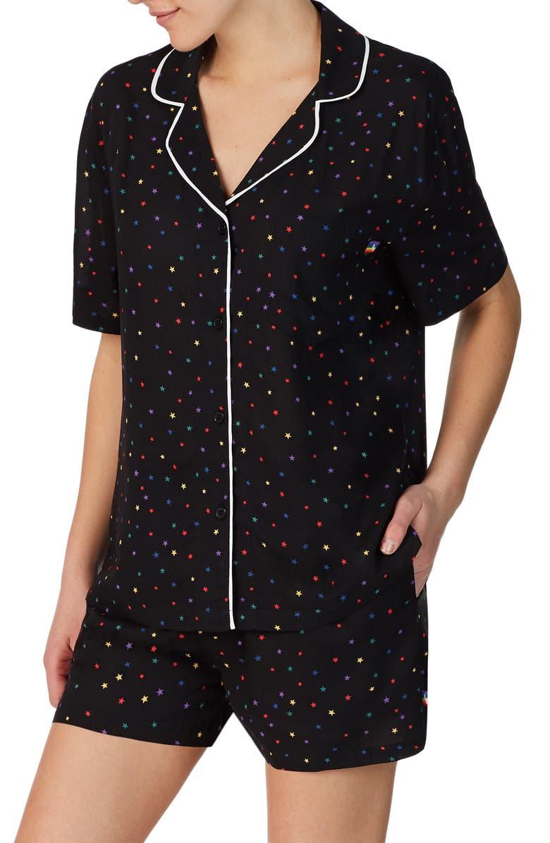 ROOM SERVICE Love Wins Rainbow Short Pajamas, Main, color, 001