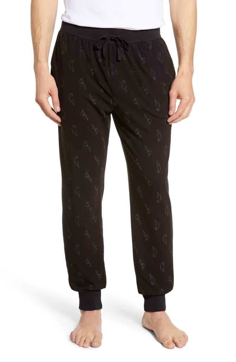 Mens Shop Print Stretch Cotton Jogger Pants
