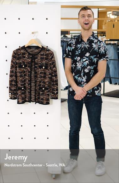 Check Jacquard Knit Jacket, sales video thumbnail