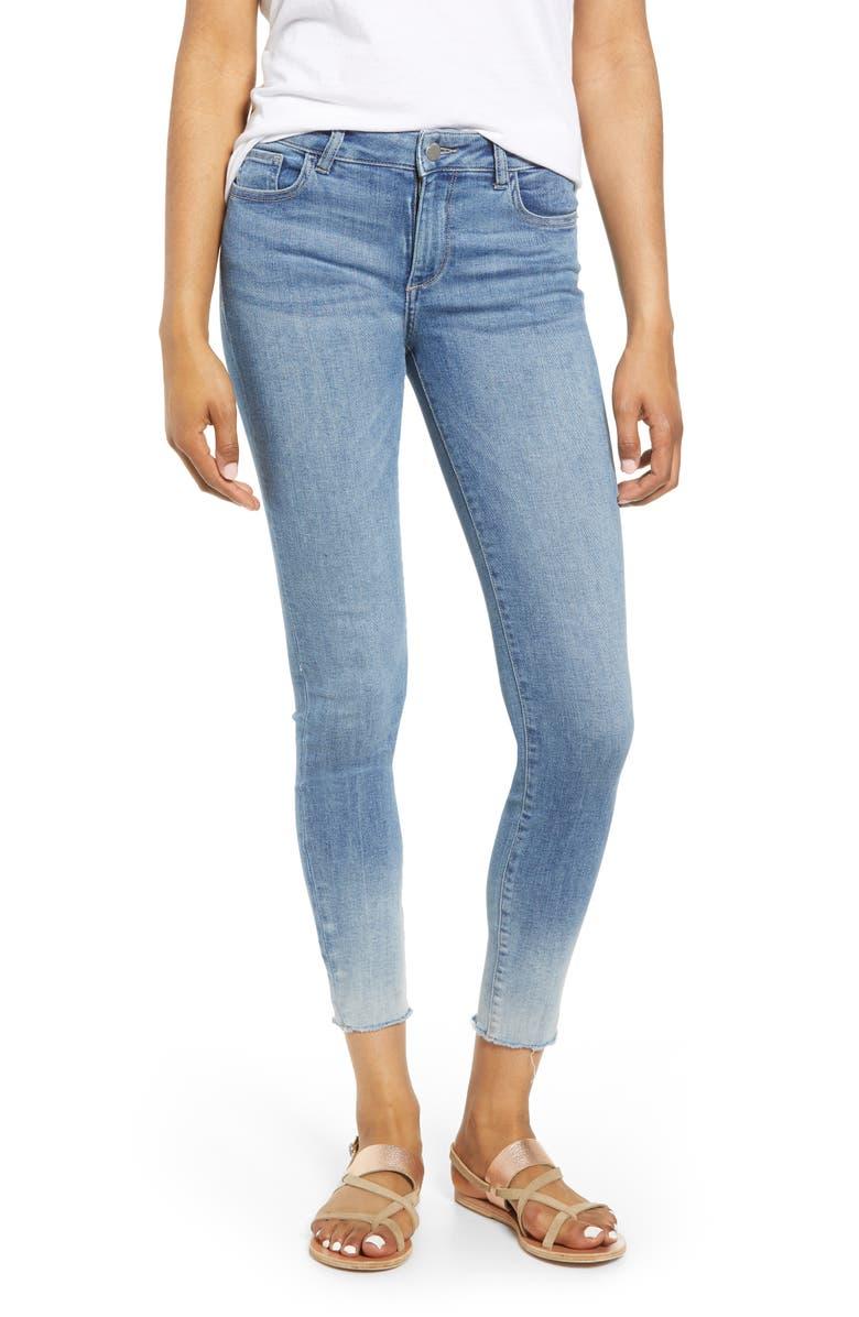 DL1961 Florence Instasculpt Ombré Ankle Skinny Jeans, Main, color, MALTA