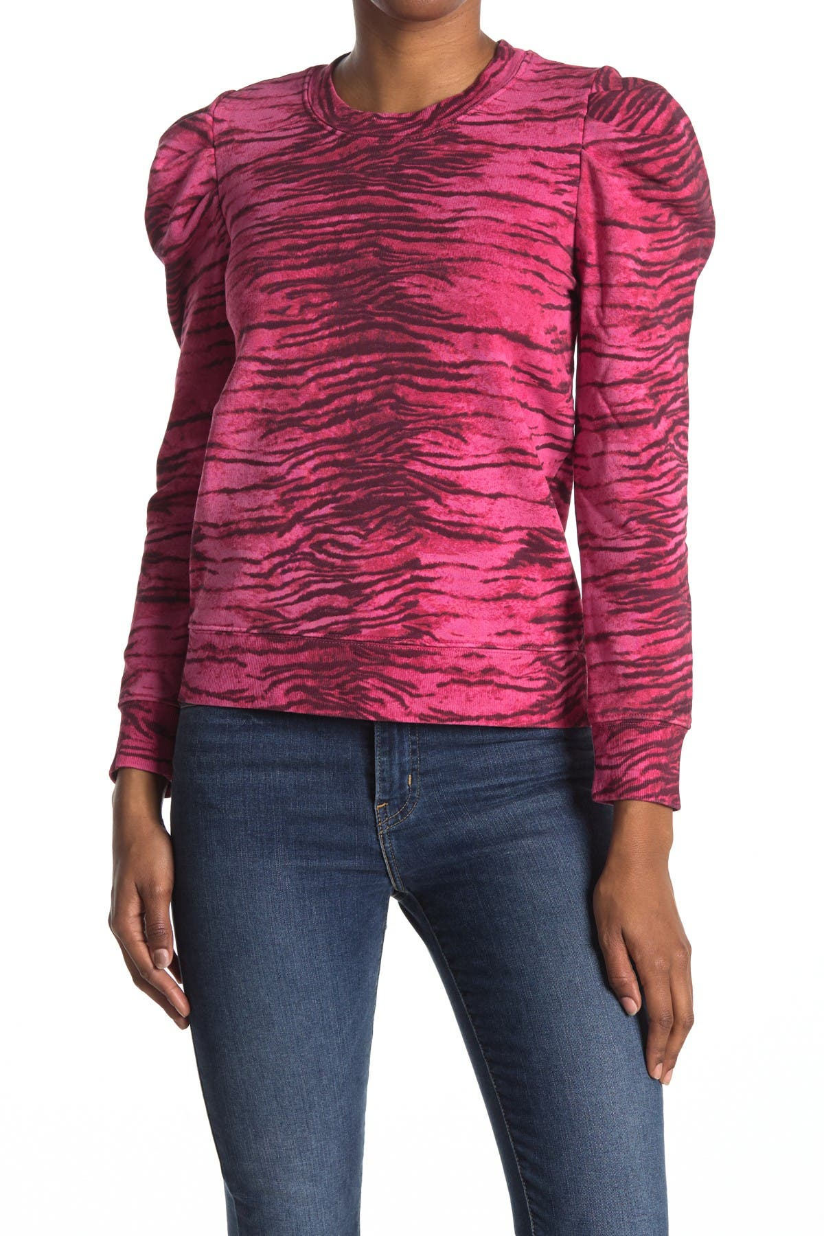 Image of PAM AND GELA Tiger Stripe Pullover Sweater
