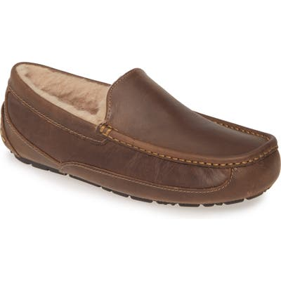 UGG Ascot Leather Slipper, Brown