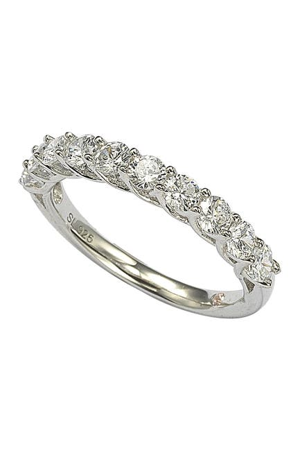 Image of Suzy Levian Sterling Silver CZ Ring