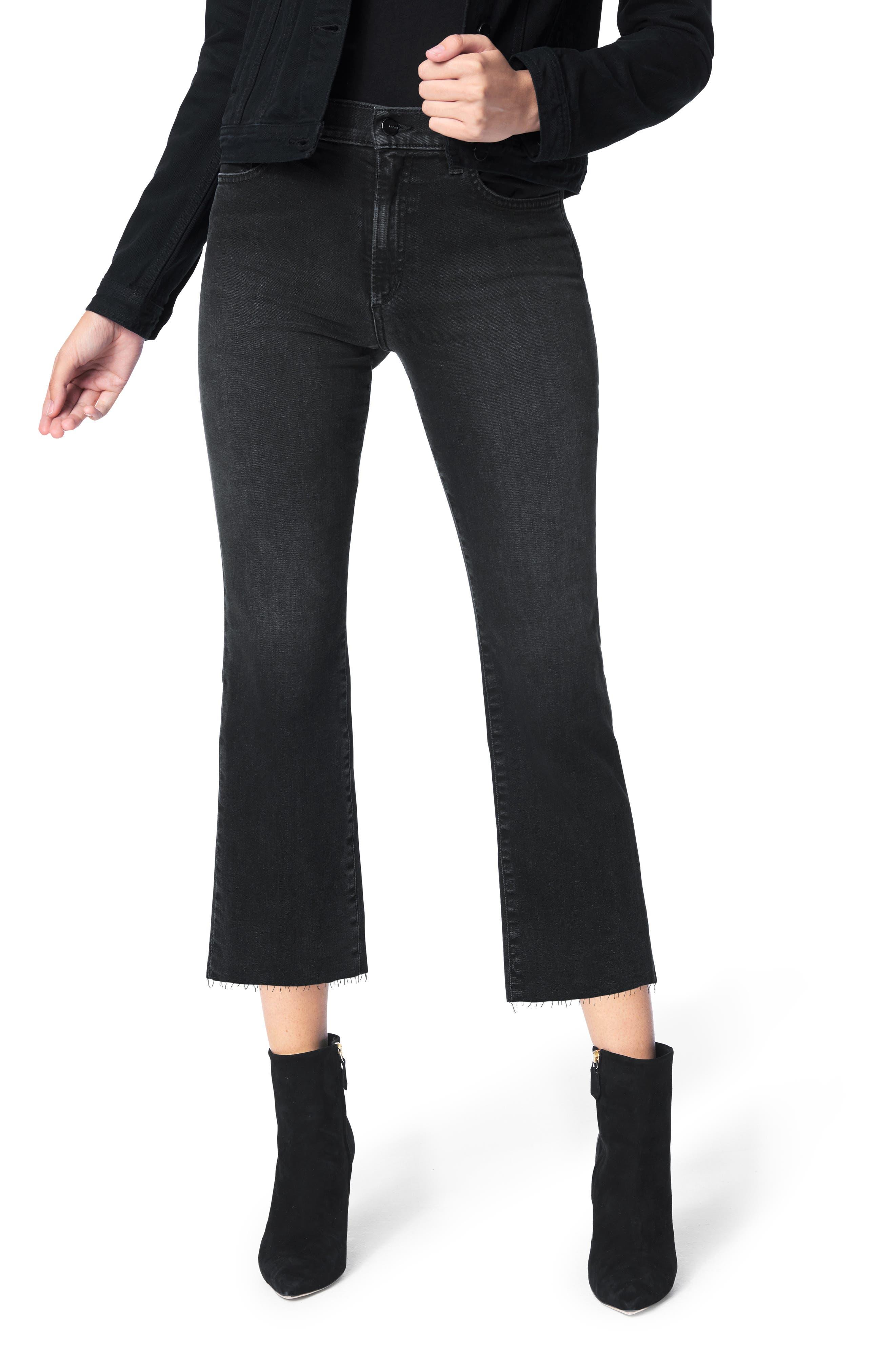 The Callie High Waist Raw Hem Crop Jeans