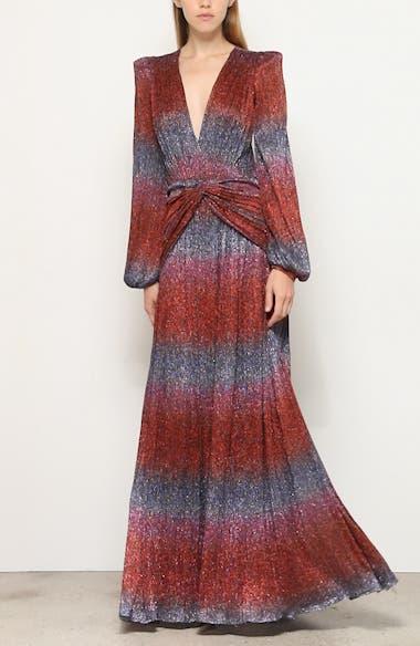 Rainbow Wrap Long Sleeve Gown, video thumbnail