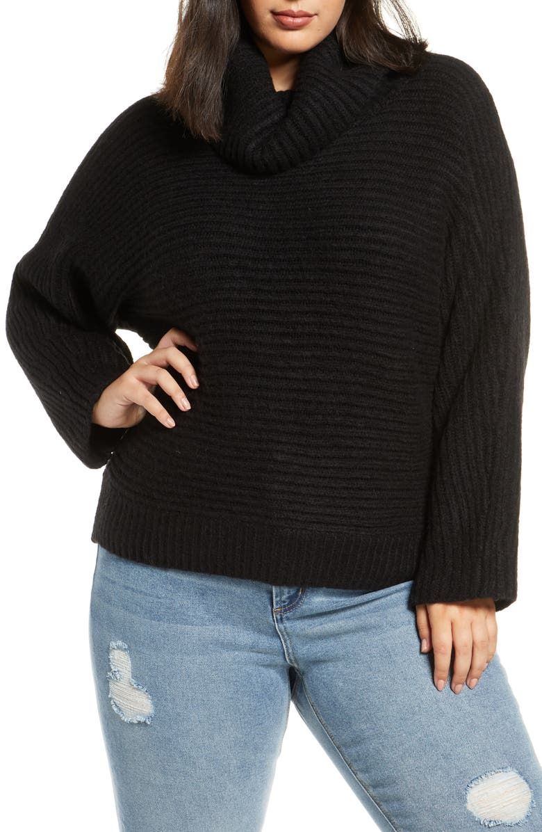 LEITH Cozy Neck Dolman Sweater, Main, color, 001