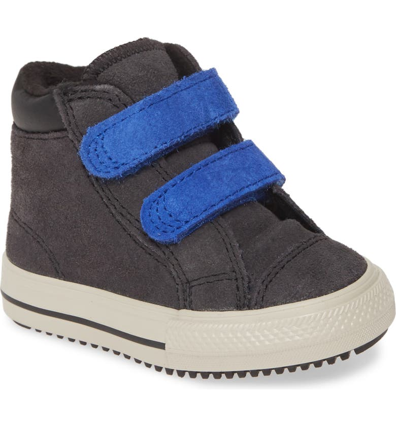 CONVERSE Chuck Taylor<sup>®</sup> All Star<sup>®</sup> 2V High Top Sneaker, Main, color, ALMOST BLACK/ BLUE/ BIRCH BARK