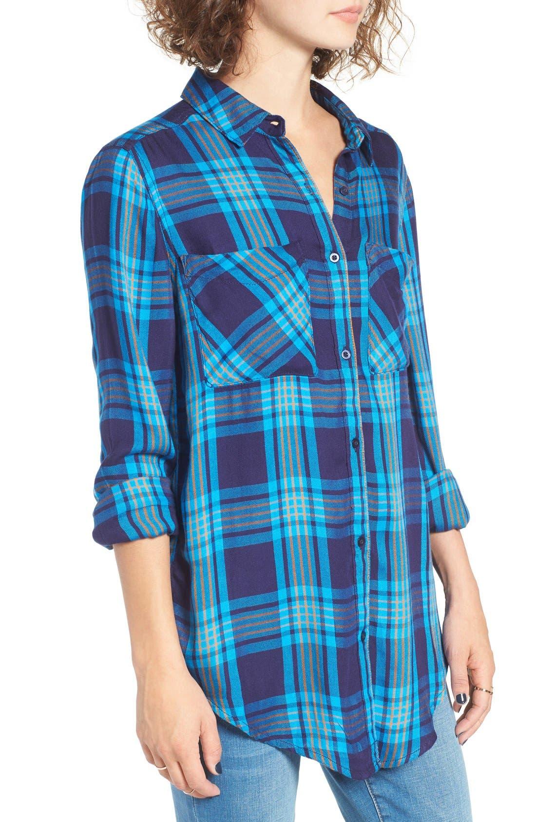 ,                             Plaid Tunic Shirt,                             Alternate thumbnail 27, color,                             410