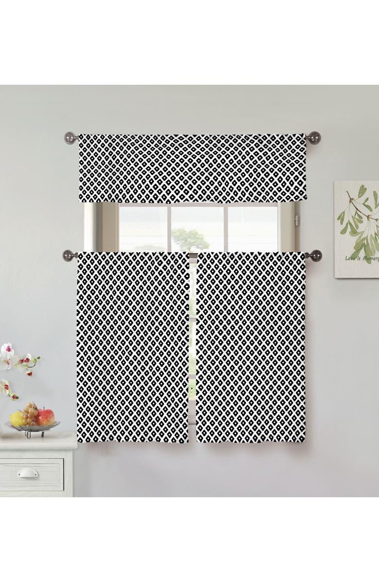 VERA Tobia Set of 3 Window Panels, Main, color, BLACK
