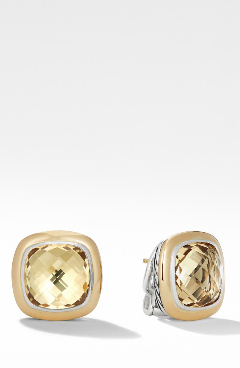 DAVID YURMAN Albion<sup>®</sup> Stud Earrings with 18K Gold, Main, color, CHAMPAGNE CITRINE
