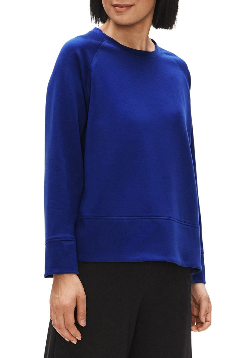 EILEEN FISHER Crewneck Long Sleeve Knit Top, Main, color, 463