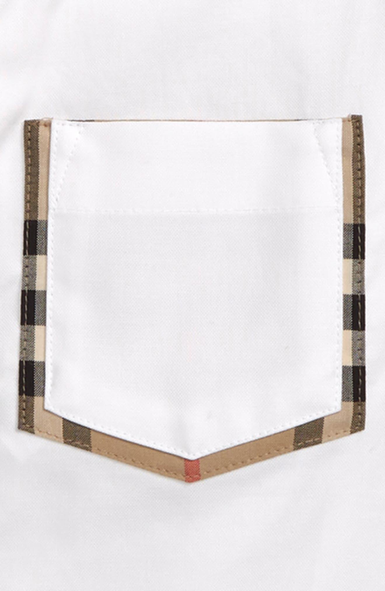,                             Harry Check Trim Sport Shirt,                             Alternate thumbnail 2, color,                             WHITE