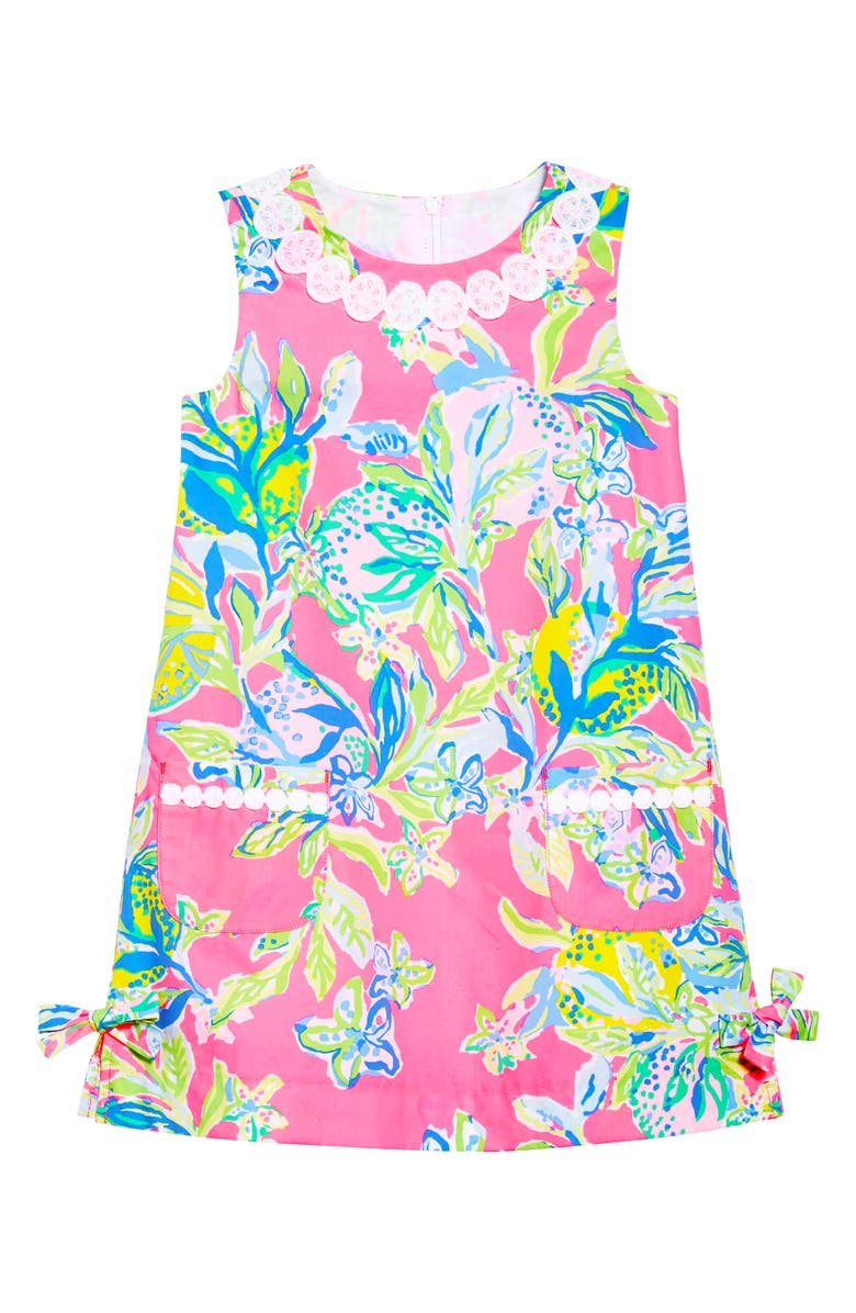 LILLY PULITZER<SUP>®</SUP> Little Lilly Shift Dress, Main, color, MULTI SQUEEZE THE DAY