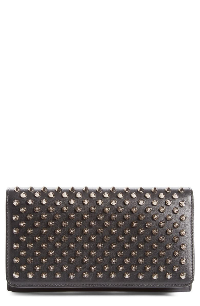 88a82359d73 'Macaron' Studded Leather Continental Wallet