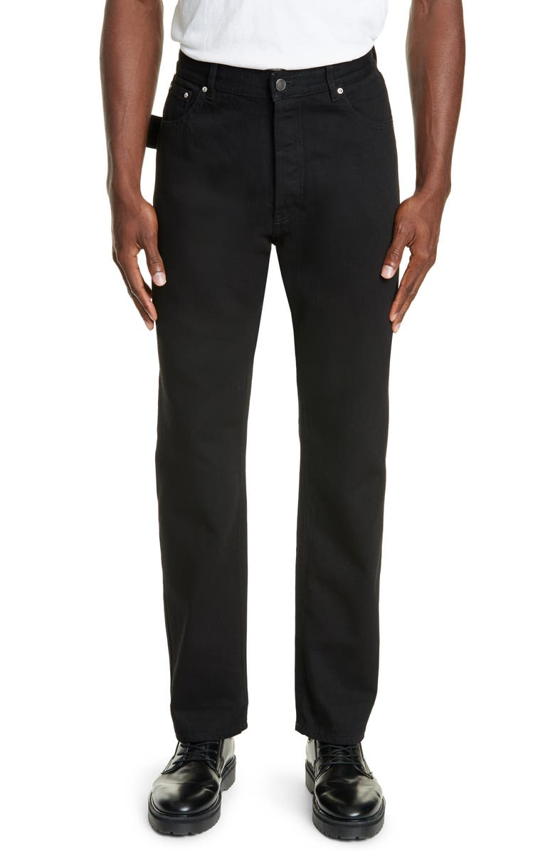 BOTTEGA VENETA Carpenter Denim Pants, Main, color, NERO