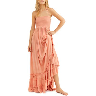 Endless Summer By Free People Extratropical Smocked Maxi Dress, Coral