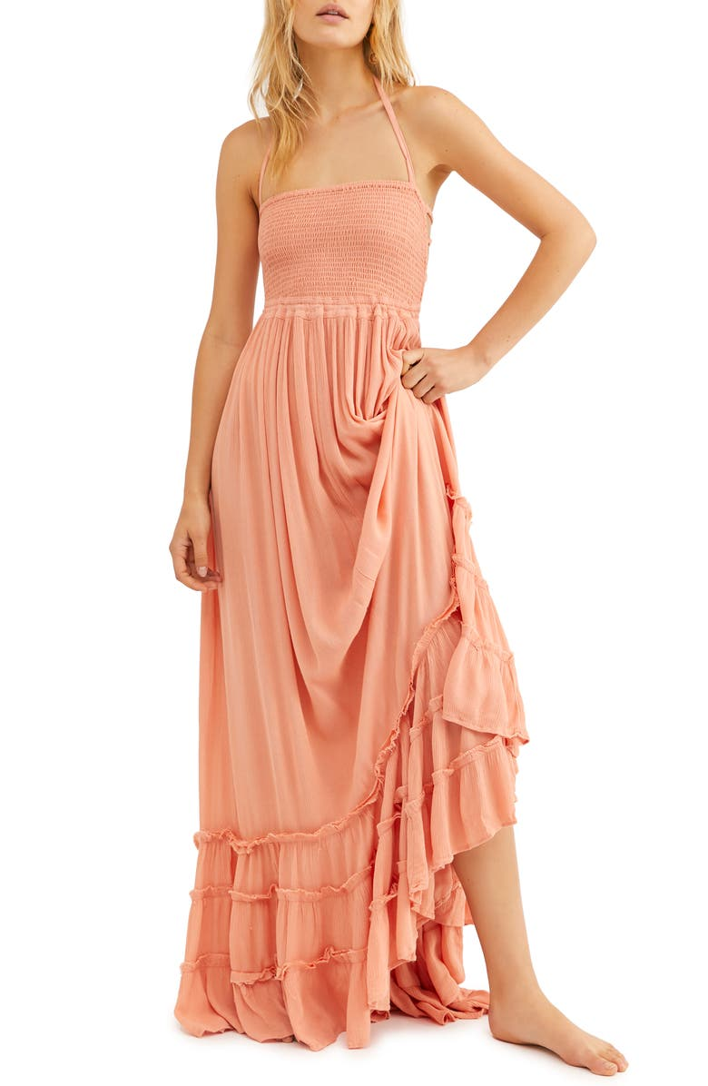 FREE PEOPLE Endless Summer by Free People Extratropical Smocked Maxi Dress, Main, color, 641