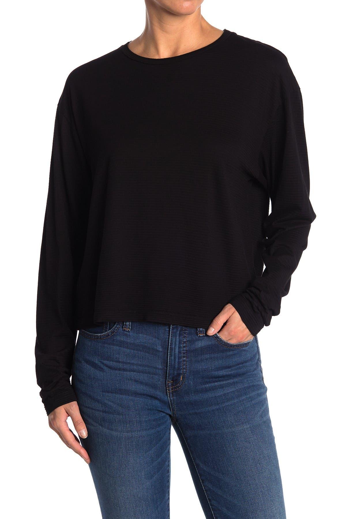 Image of Stateside Shadows Stripe Long Sleeve Jersey Top