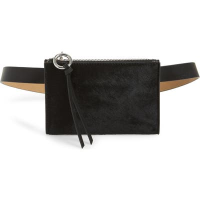 Rebecca Minkoff Ava Genuine Calf Hair Belt Bag - Black