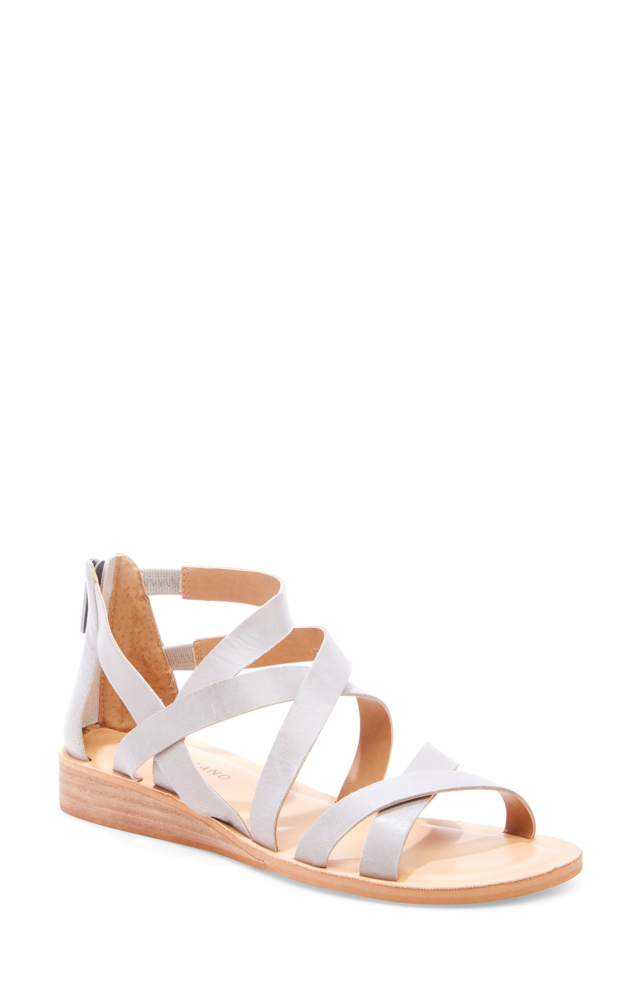 Helenka Strappy Wedge Sandal, Main, color, CHINCHILLA LEATHER