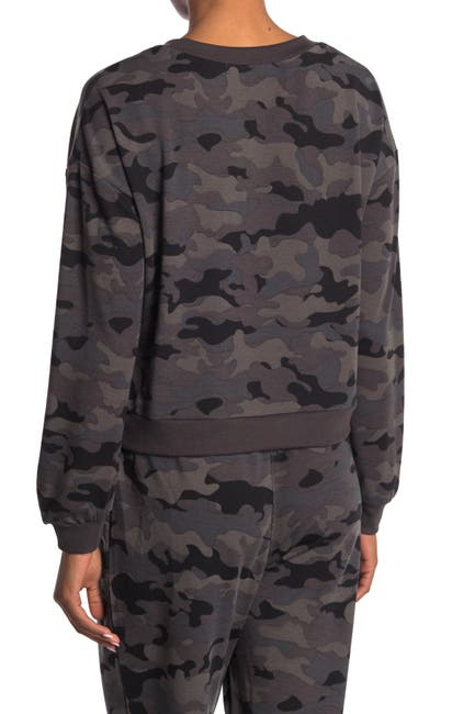 Image of ROW A Camo Crew Neck Sweatshirt