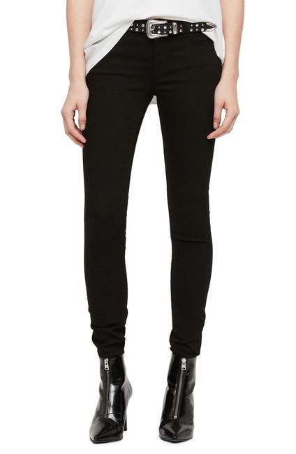 Image of ALLSAINTS Mast Low Rise Skinny Jeans