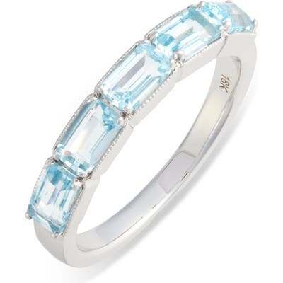 Bony Levy Blue Topaz Baguette Stack Ring (Nordstrom Exclusive)